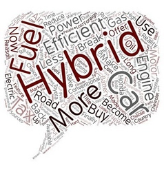 Why buy a hybrid car text background wordcloud vector