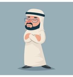Winner vintage arab businessman standing proud vector