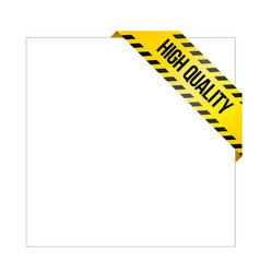 Yellow caution tape with words high quality vector