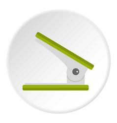 Yellow ruler icon circle vector