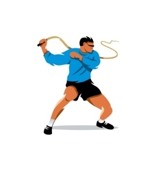 Man with whip cartoon vector