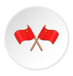 Flag of china icon cartoon style vector