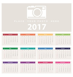 Calendar 2017 template design vector