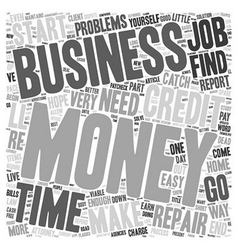Money problems consider a viable home business vector