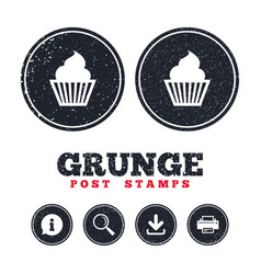 muffin sign icon cupcake symbol vector image
