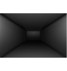 Black empty room interior for design vector