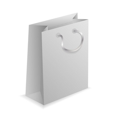3d paper shopping bag on white background vector
