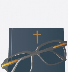Bible glasses vector