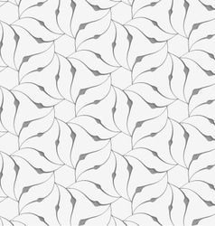 Perforated floral leafy shapes flower vector