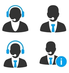Information call center flat bicolor icons vector