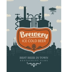 brewery beer in old town vector image