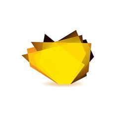 Glass shard orange vector