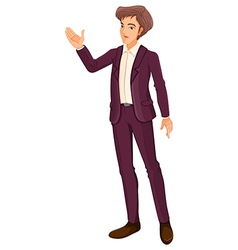 A businessman doing a hand signal vector image vector image