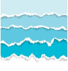 Background of blue torn paper vector