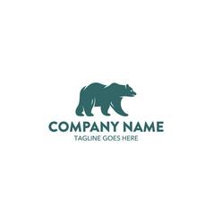 bear logo-5 vector image vector image
