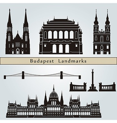 Budapest landmarks and monuments vector