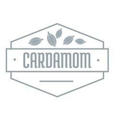 Cardamom logo simple gray style vector