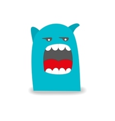 Cartoon cute monster on white background vector
