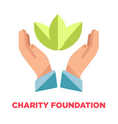 charity foundation promotional logotype with open vector image