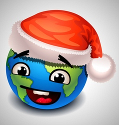 christmas earth vector image