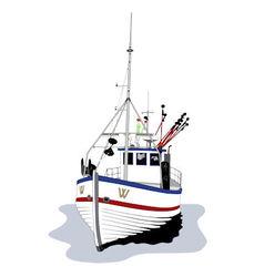Fishing boat vector