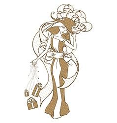 Gift-girl vector image