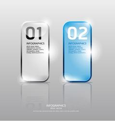 Glass framework set Transparent glass plates vector image