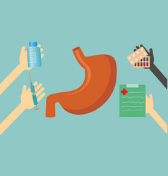 health concept - stomach vector image