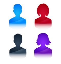 Icons profile colored avatar male and female vector image