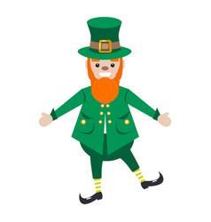 irish st patrick leprechaun character vector image vector image