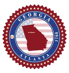 Label sticker cards of state georgia usa vector