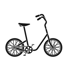 little yellow children s bicycle bicycles for vector image