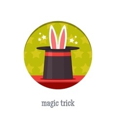 Magic trick icon vector
