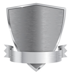 Metal shield with ribbon vector