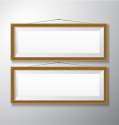 Picture frames wooden horizontal vector