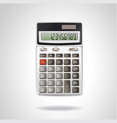 realistic calculator isolated on white vector image vector image