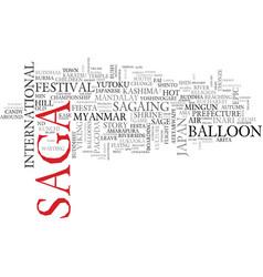 Saga word cloud concept vector