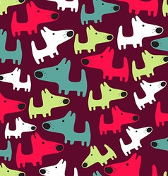 seamless pattern with dogs vector image