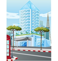 Tall buildings in the city vector image vector image