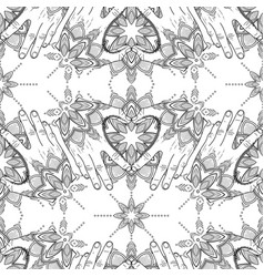Tattooed hands pattern vector