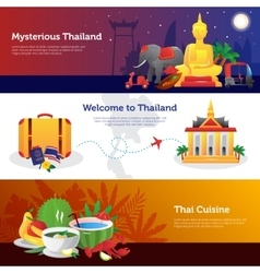 Thailand Travel Horizontal Banners Set vector image vector image