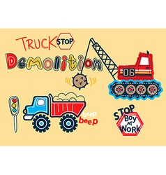 Truck stop vector image