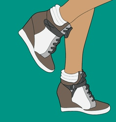 Wedge sneakers vector
