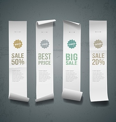 White paper roll long size vertical design vector image vector image