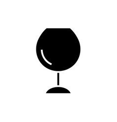 wine glasses - icon blac vector image