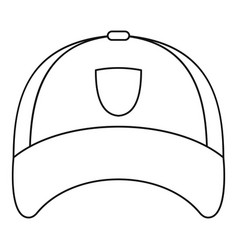 Winter hat icon outline style vector