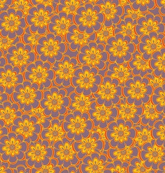Floral seamless abstract hand-drawn pattern vector image