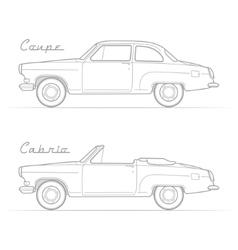 Classic retro car silhouette image vector image