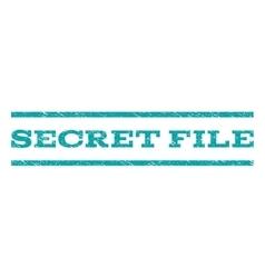 Secret file watermark stamp vector