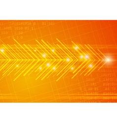 Arrowed technological background vector image